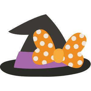 witch hat with bow
