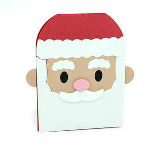 santa claus face card