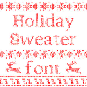 holiday sweater font