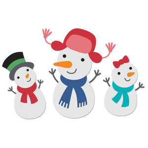 happy and cute snowmen