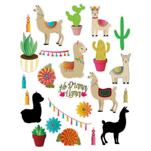 llama-themed stickers