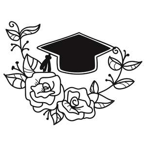 floral graduation cap flourish
