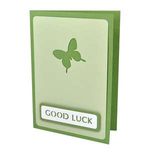 butterfly good luck stencil card