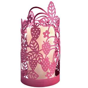 strawberry papercut lantern