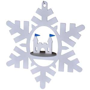 christmas ice castle snowflake hanging ornament