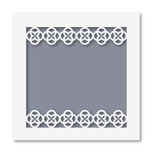 photo insert pocket quatrefoil
