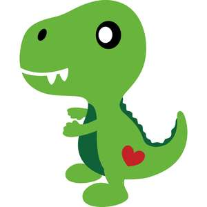baby t-rex with heart