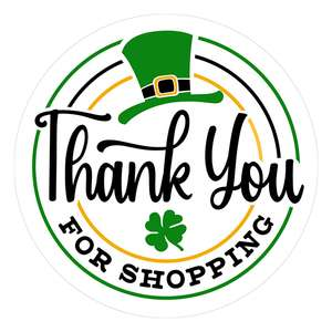 leprechaun's hat thank you for shopping