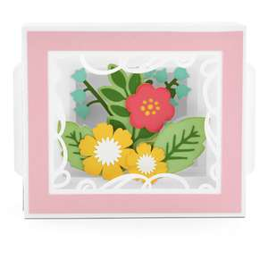 shadow box card flower bunch