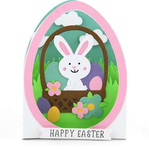 box card easter egg bunny basket