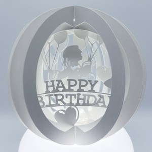 three layered birthday balloon