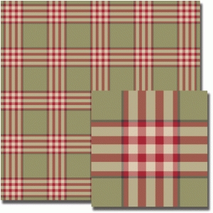 olive raspberry plaid pattern