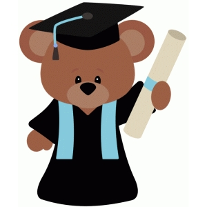 graduation school bear