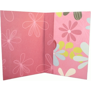 card with inside pocket