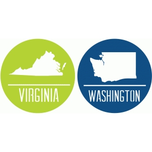state badges - va wa