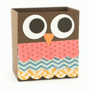 3d lori whitlock owl favor box