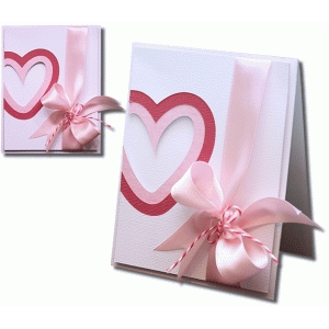 a2 layered heart card