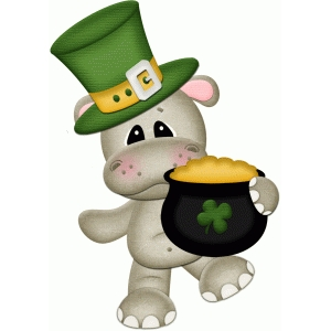 st. patricks hippo w pot of gold pnc