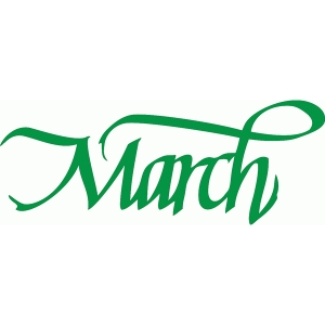 march – italic calligraphy