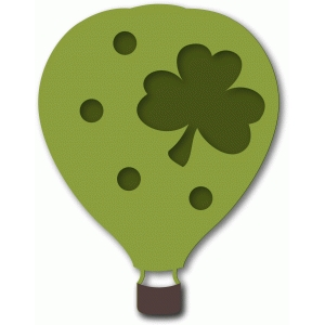 hot air balloon shamrock