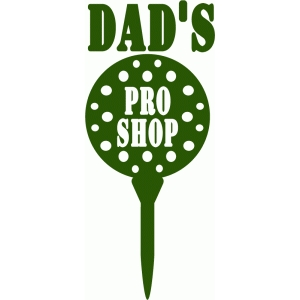 customizable golf pro shop vinyl sign