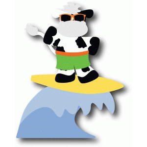 cow surfer