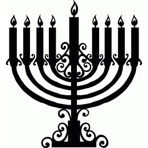 filigree menorah