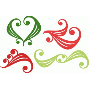 christmas flourish set