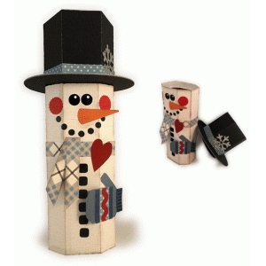 snowman with mitten 3d canister