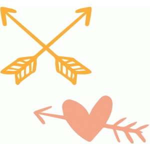hand drawn arrows and heart