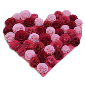 solid heart rose decor