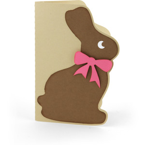 chocolate easter bunny card