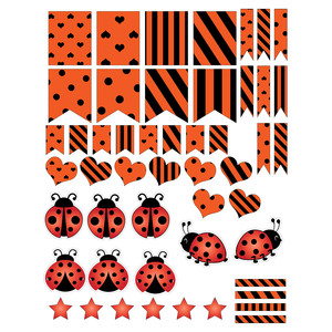 ladybug-themed planning stickers