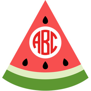 watermelon monogram