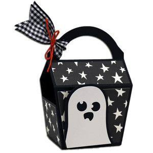 spooky ghost party favor box