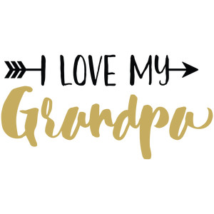 baby t-shirt: i love my grandpa