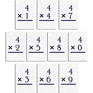 flashcard - multiply 4