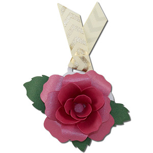 rose gift tag card