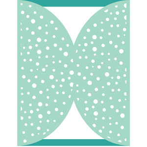 polka dot gate fold a2 card