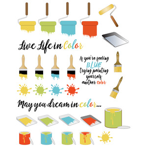 paint-themed planner stickers