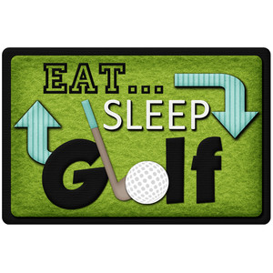 eat sleep golf title