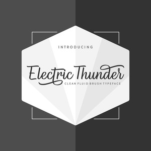 electric thunder font