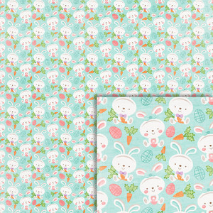 easter bunny background paper