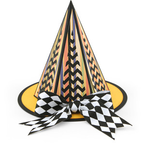 3d halloween witch hat chevron