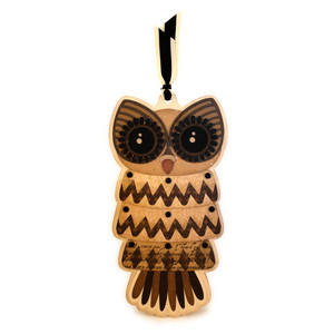 owl shaped ornament card