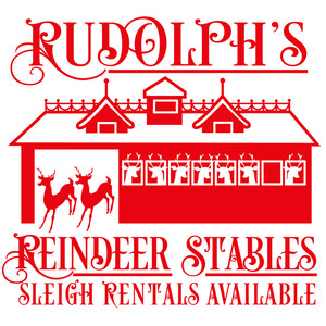 rudolph's reindeer stables sign