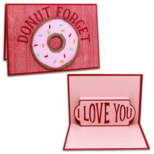 donut forget pop-up card