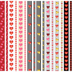 valentine heart borders/washi tapes