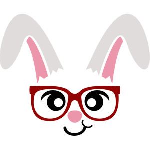 bunny glasses face