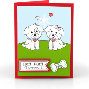 light up card dog
